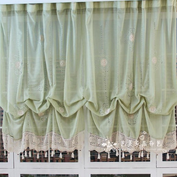 Pastoral Style Adjustable Balloon Curtain