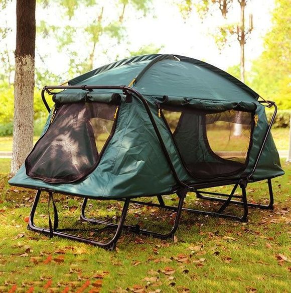 Portable Double Layer Above Ground 1-2 Person Tent - For 1 person