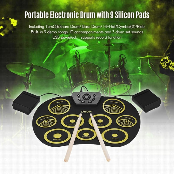 Portable Electronic Roll Up Drum Kit