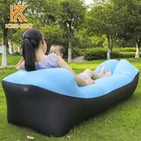Portable Inflatable Air Lounger With Head Rest - New Pillow Sofa 2