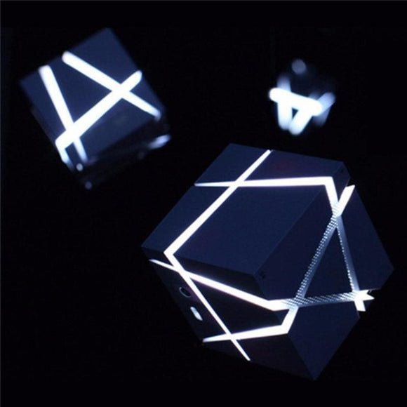 Portable Speaker Cube with Built In LED Light
