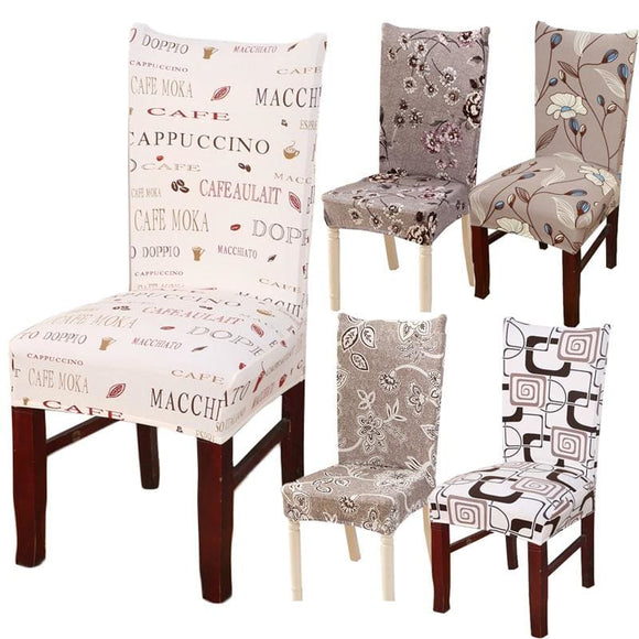 Print Design Removable Chair Cover - 6 / Universal
