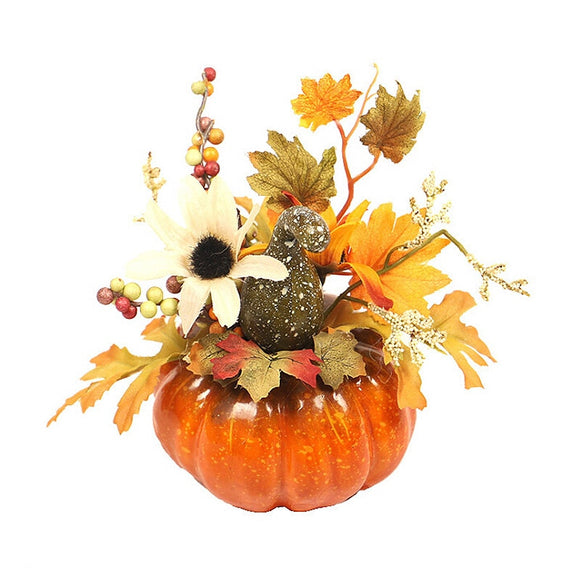 Artificial Pumpkins Maple Leaf Table Decor