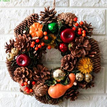 Autumn Harvest Pumpkin Door Wreath