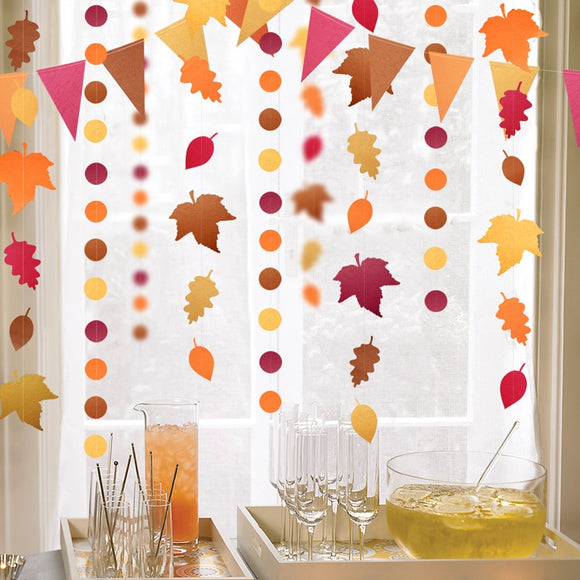 Red Orange Yellow Autumn Leaves Banner
