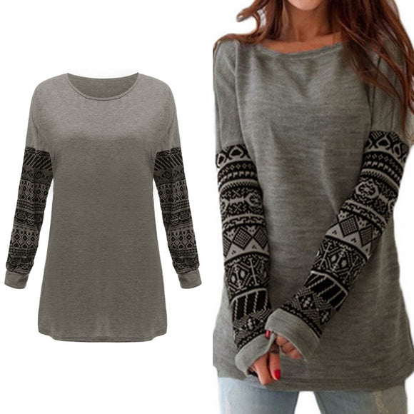 Nordic Style Long Sleeve Casual Cotton T-Shirt