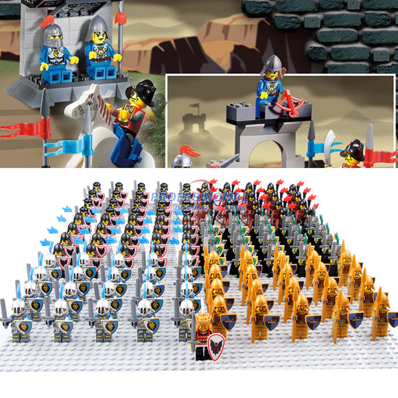 Blue Lion Knight Red Lion Knight Building Blocks Set