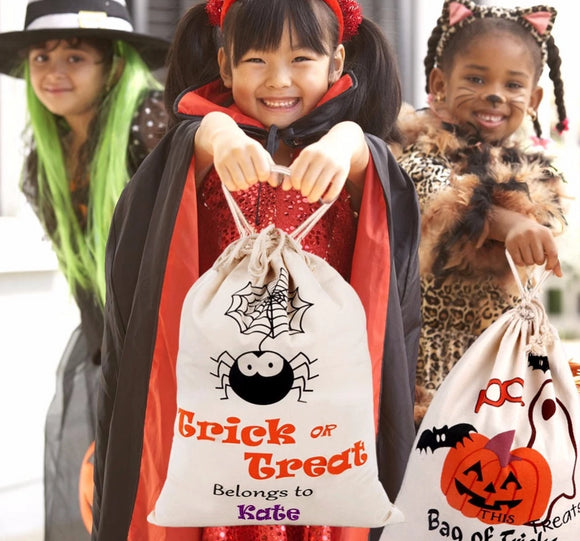 Cotton Canvas Halloween Bags Trick or Treat Bags