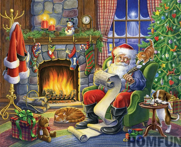 Christmas Santa Claus 3D DIY Diamond Mosaic Kit