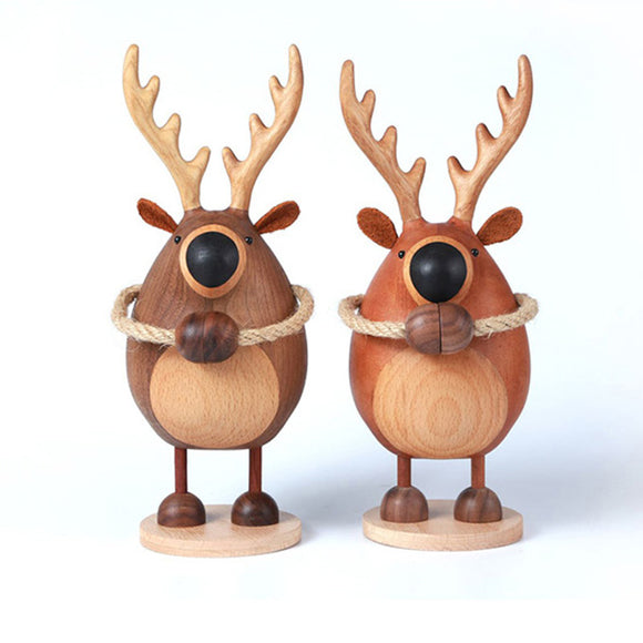 Walnut Wood Deer - 2 Pieces