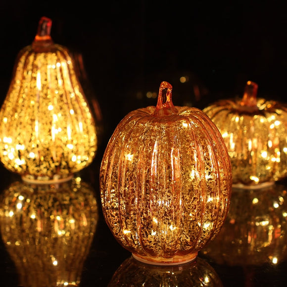 Pumpkin LED Candle Lamp