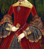 Red and Gold Tudor Times Dress