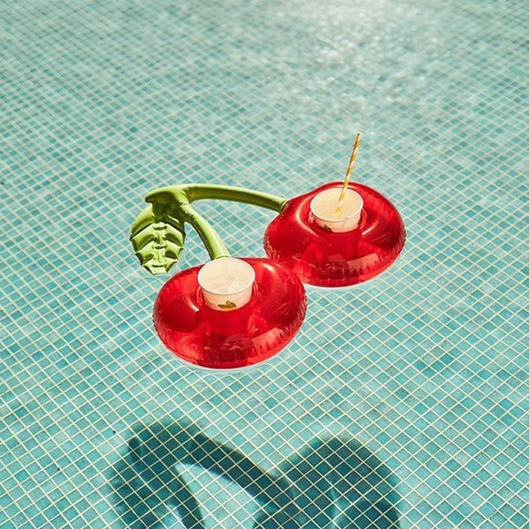 Red Cherry Shaped Pool Drink Holders