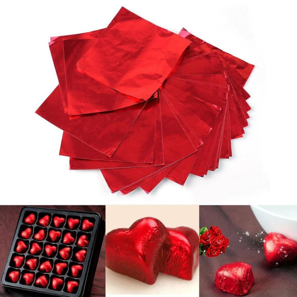 Red Square Candy Foil Wrappers