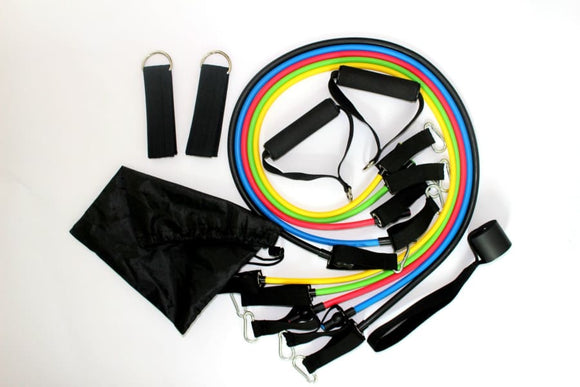 Resistance Exercise Bands 11pcs/Set - Set1