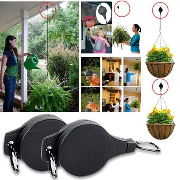 Retractable Flower Pot Pulley Hooks X 6
