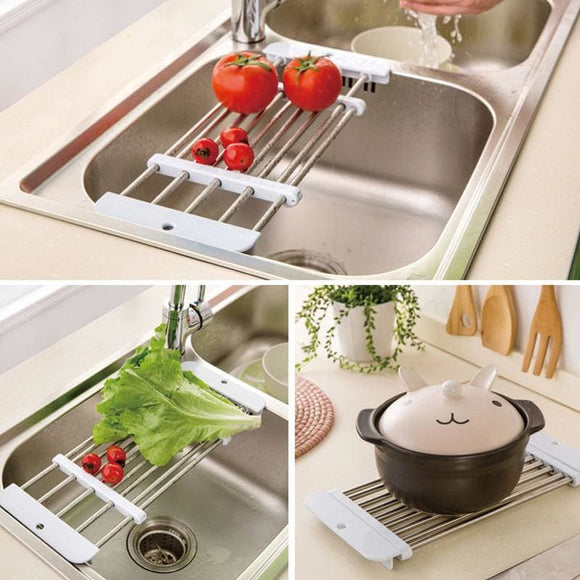 Retractable Fruit Vegetable Holder Tray