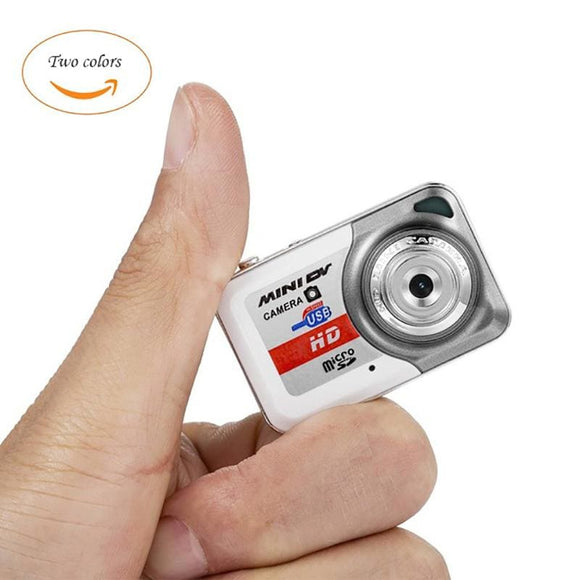 Retro Style Mini Digital Video Camera - Silver