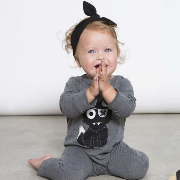 Rock Him - Sock Him Kitty Cotton Romper