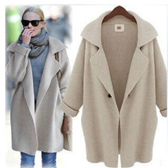 Shawl Collar Wool Collar Coat