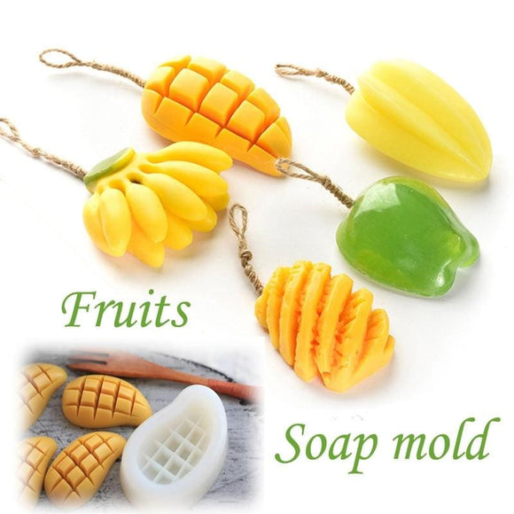 Silicone Fruit Mold for Fondant and Soap