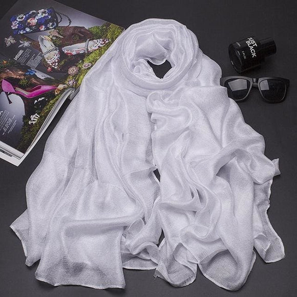 Silk Holland Scarf - White