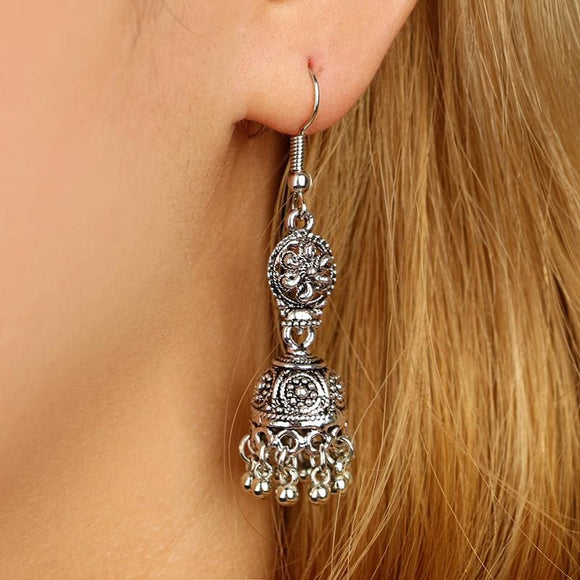 Silver Boho Dangle Earring