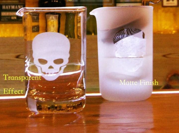 Skull Mixing Glass - Transparent Effect / 580Ml