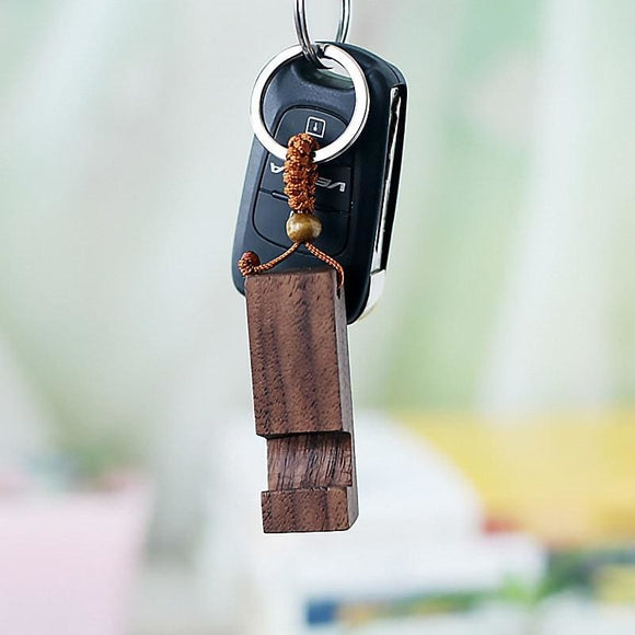 Small Portable Wooden Phone Holder Key Chain