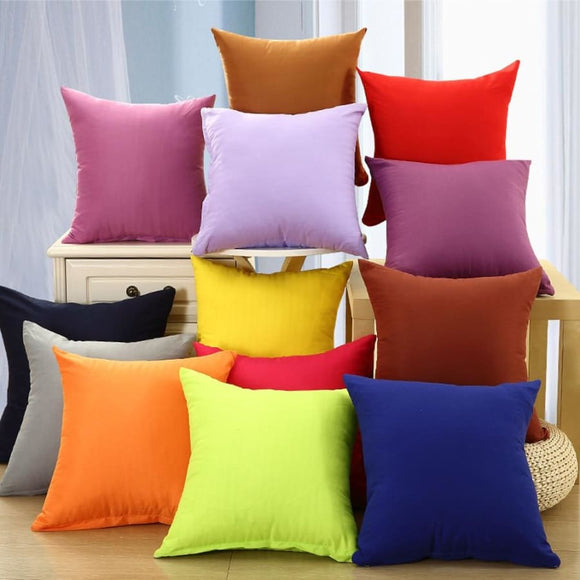 Solid Color Throw Pillowcase