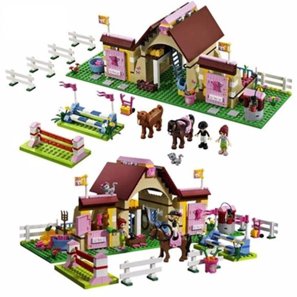 Stable Farm Building Blocks Set