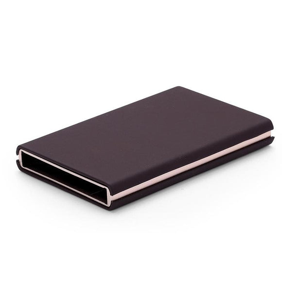 Stainless Steel Pop Up Travel Wallet - Style A Brown