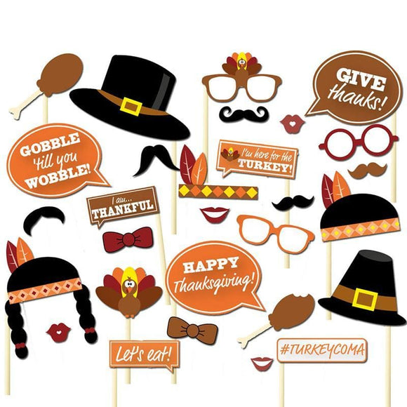 Thanksgiving Photo Booth Prop and Other Fun Assortments