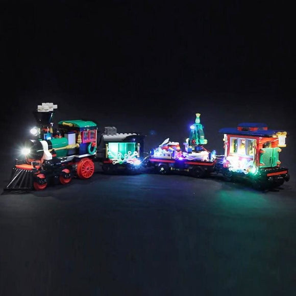 The Christmas Winter Holiday Train Building Blocks LED Light Set - Lights Battery box