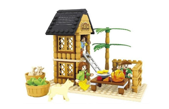The Farm Market Tree Fort Building Blocks Set