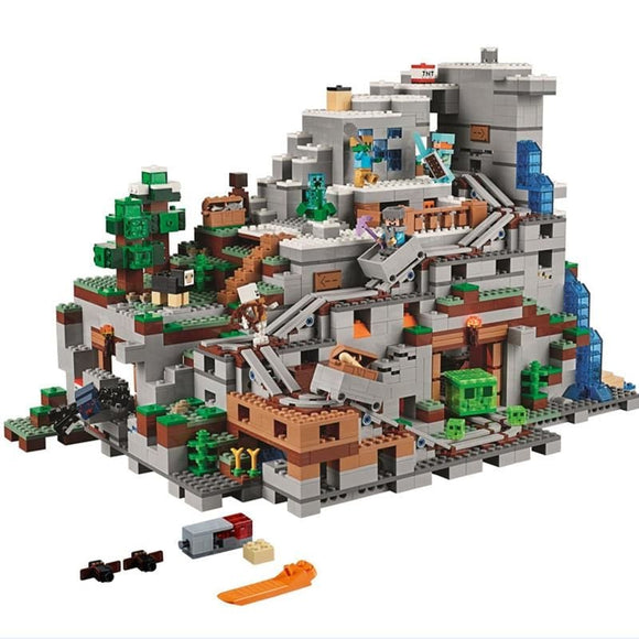The Mountain Cave Building Blocks Set
