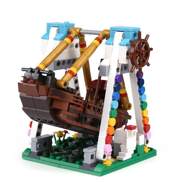 The Pirate Ship Ride Building Blocks Set - Without original box