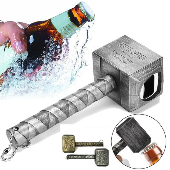 Thors Hammer Bottle Opener - Silver