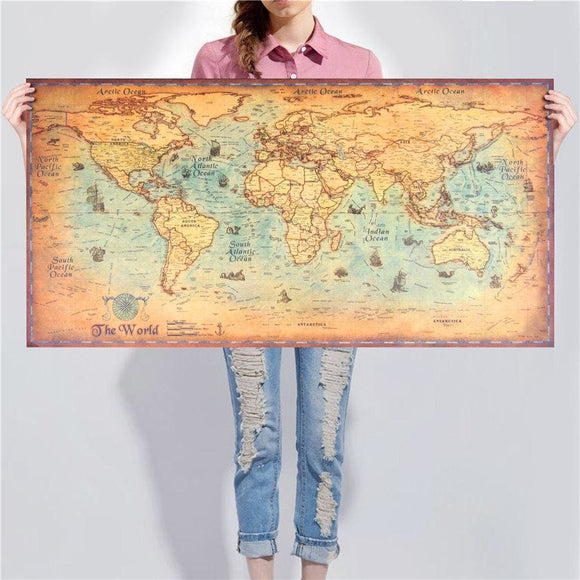 Travel Map Wall Decal
