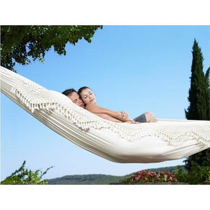 Ultra-Large 2 Person Cotton Hammock With Tassel