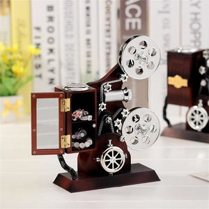 Vintage Movie Projector and Music Box