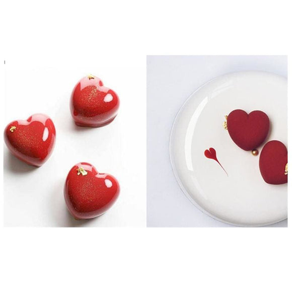White Heart Silicone Shaped 15 Cavity Cake Tray