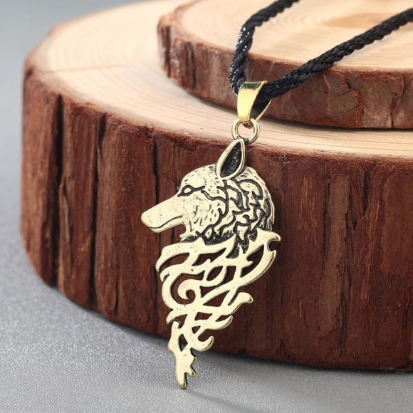 Wolf Pendant Necklace - Antique Bronze Plated
