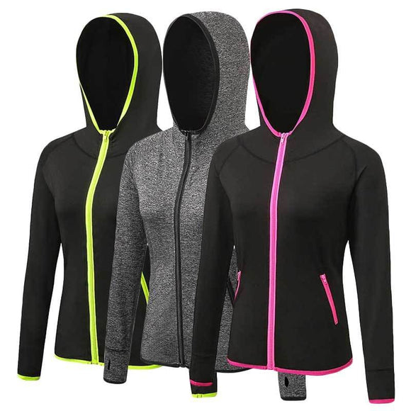 Women Quick Dry Workout Hoodie Jacket
