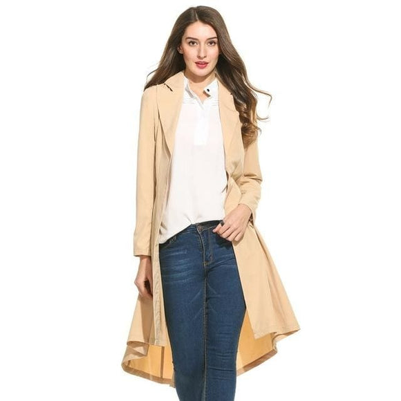 Women Trench Coat - Khaki / L