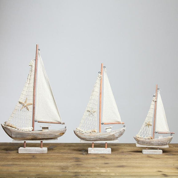 Wood Miniature Sail Boat