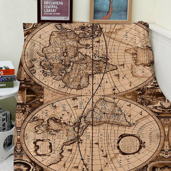 World Map Soft & Cozy Blanket