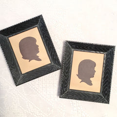 little mugshots vintage silhouette portrait about