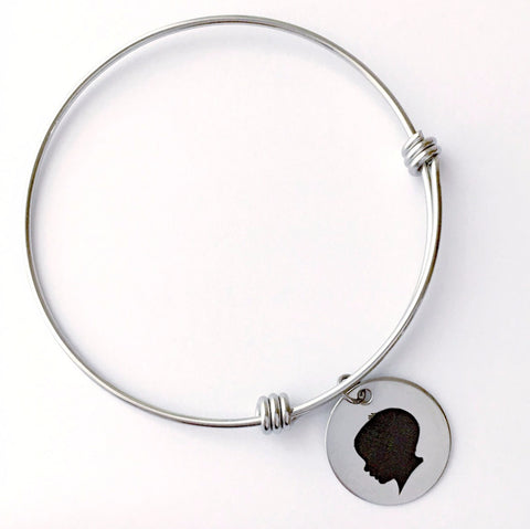 Silhouette Expandable Bangle Bracelet