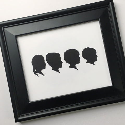 "8x10"" with Four Silhouette Paper-Cuts"